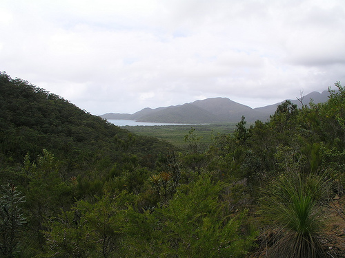 Zoe bay in the distance